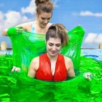 These Girls Decided To Take A Bath In 5000 Pounds Of Slime In A Hot Tub. You Won't Believe What Happened Next