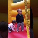 This Little Boy Became An Internet Star For Being Way Too Cool For A Jumping Castle