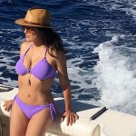 Salma Hayek Looks Absolutely Stunning In A Purple Bikini… And She's 51!