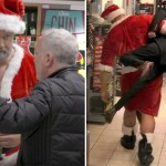 The World's Strongest Man Dressed Up As Santa To Stop People From Buying Plastic Bottles. The Result Was Hilarious