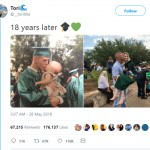 This Father And Daughter Recreated A Graduation Photo 18 Years Later. The Result Was EPIC