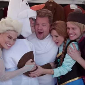 Watch James Corden Try To Dethrone Idina Menzel As Elsa For A 'Frozen 2'
