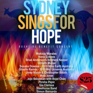 Featured Event Of The Week: Sydney Sings For Hope – A Bushfire Benefit Concert