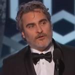 Watch Joaquin Phoenix Drop F-Bombs In His Speech At The 2020 Golden Globes Award