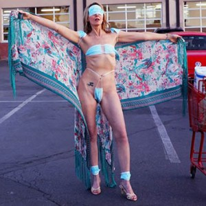 This Woman Wore A Surgical Face Mask Bikini In Public To Protest The Lockdown